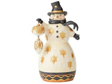 Figur Schneemann mit Weihnachtskugel