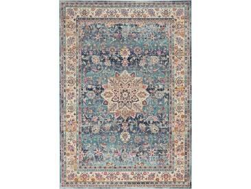 Teppich Vintage Kashan in Blau