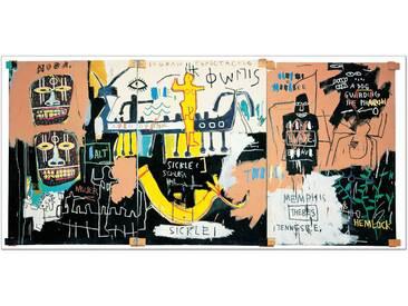 "Schild ""El Gran Espectaculo (History of Black People)"" von Basquiat, Grafikdruck"
