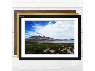 Gerahmtes Poster Volcano Parincota Chile, Fotodruck