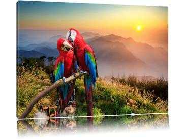 Leinwandbild ,,Papageien Pärchen