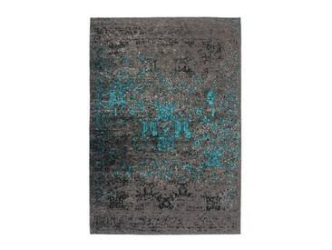 Handgefertigter Teppich Cocoon 991 in Blau/ Braun