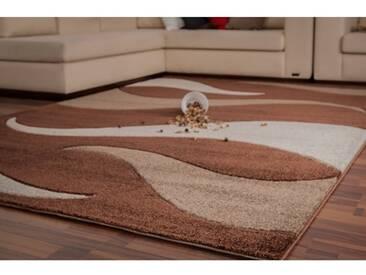 Handgefertigter Teppich Netherlands Amsterdam in Braun