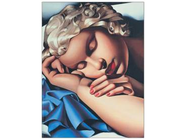 "Schild ""La Dormiente"" von De Lempicka, Kunstdruck"