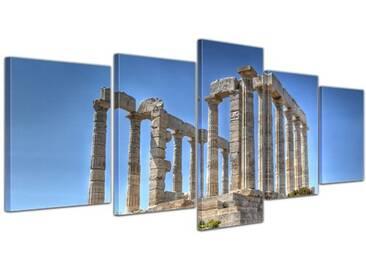 5-tlg. Leinwandbilder-Set Kap Sounion, Fotodruck