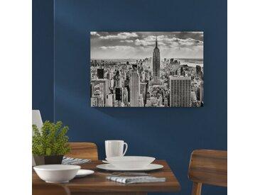 Leinwandbild New York, Manhattan in Monochrom