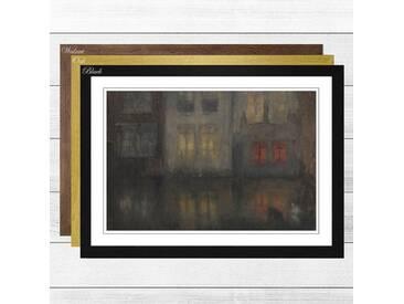 Gerahmtes Poster Nocturne Black and Red von James Abbott McNeill Whistler