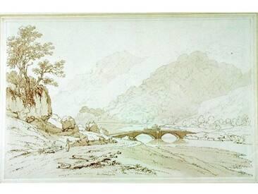 "Gerahmtes Poster ""The Grange of Borrodale von Joseph Farington, Kunstdruck"