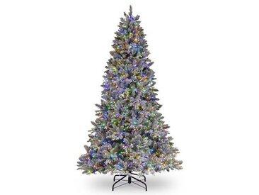 Künstlicher Weihnachtsbaum 229 cm Grün/Lila mit 4000 LED-Leuchten und Ständer