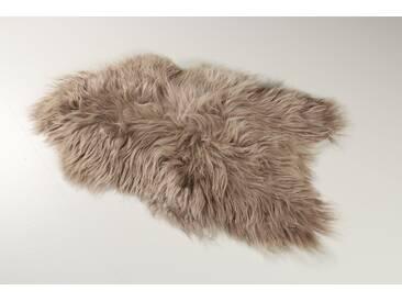 Teppich Gabi aus Schaffell in Taupe