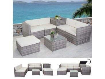 5-Sitzer Lounge-Set Ridgecrest aus Polyrattan mit Polster