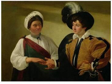 Leinwandbild The Fortune Teller von Caravaggio
