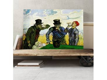 Leinwandbild Die Trinker (nach Daumier) Kunstdruck von Vincent van Gogh