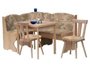 Eckbankgruppe Lipan mit ausziehbarem Tisch, 2 Stühlen und einer Bank