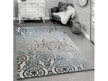 Teppich Erica in Grau/Blau