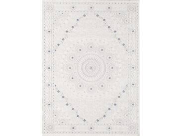 Flachgewebe-Teppich Bruno aus Schaffell in Creme