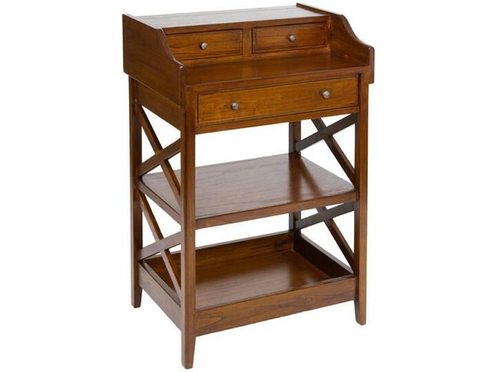 Schreibtisch Kreuz Braun