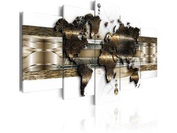 5-tlg. Leinwandbilder-Set Metallische Welt