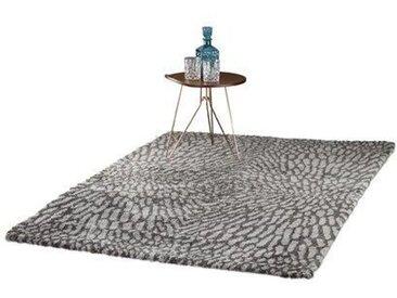 Handgefertigter Shaggy-Teppich Jaxon in Grau