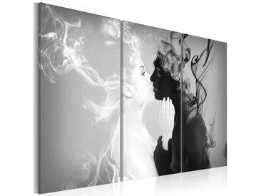 3-tlg. Leinwandbilder-Set Rauchiger Kiss
