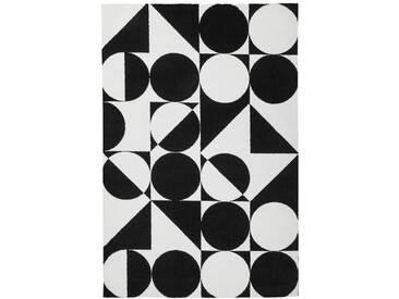 Teppich My Black and White in Weiß/Schwarz
