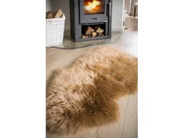 Teppich Schaffell aus Wolle in Braun