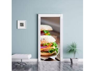 Türaufkleber Leckere Burger