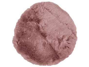 Teppich Violetta aus Schaffell in Dunkelrosa