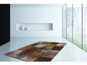 Handgefertigter Teppich Cocoon 990 in Rot