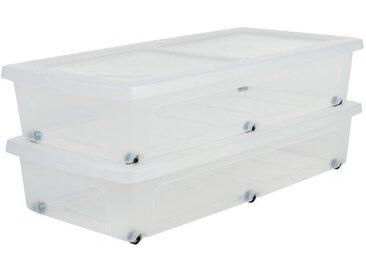 2-tlg. Bettkästen-Set aus Kunststoff