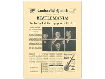 """Paneel """"Beatlemania"""" von The Vintage Collection, Retro-Werbung"""