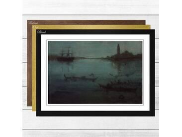 Gerahmtes Poster The Lagoon Venice von James Abbott McNeill Whistler