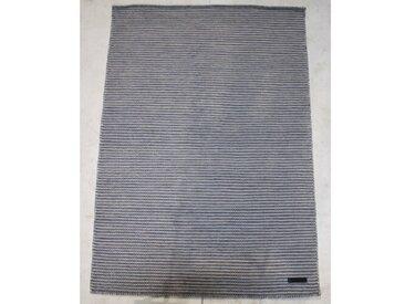 Handgefertigter Kelim-Teppich Herault aus Wolle in Aquamarin