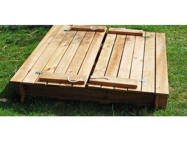 120 cm x 120 cm quadratischer Sandkasten  Pinewood mit Abdeckplane