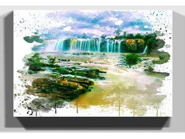 Wandbild Landschaft Wasserfall