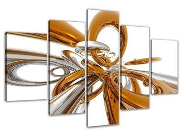5-tlg. Leinwandbilder-Set Abstrakt