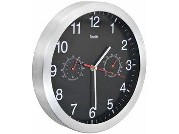 Quarz Uhrwerk Hygrometer Thermometer 30cm Stille Wanduhr Kees
