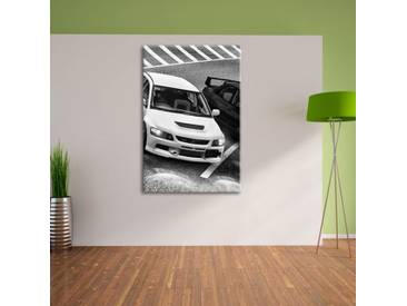 Leinwandbild Zwei elegante Sportwagen in Monochrom