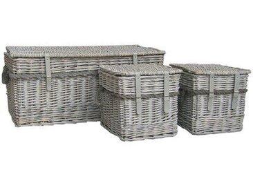 3-tlg. Korb-Set aus Weidenholz