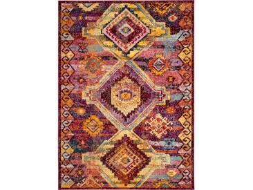 Teppich Granger in Rot/Lila