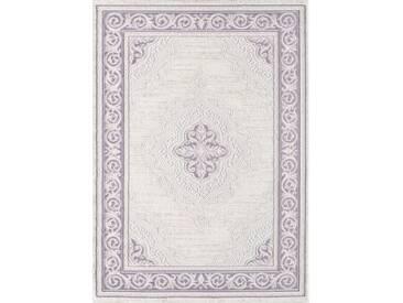 Flachgewebe-Teppich Bruno aus Schaffell in Lila