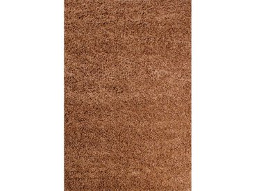 Teppich Retro Shaggy Plain in Beige