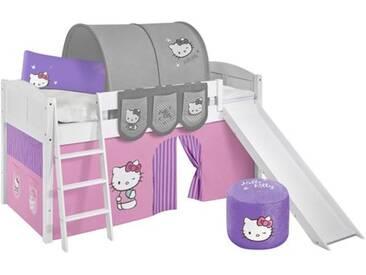 Hochbett Hello Kitty mit Hochbettvorhang, 90cm x 200cm