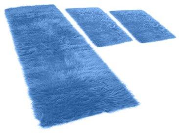 Bettumrandung Pireo in Blau