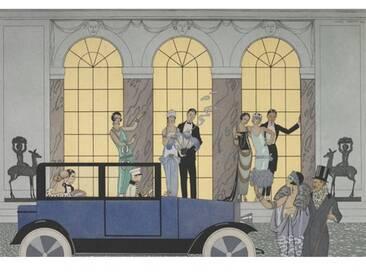 """Gerahmter Kunstdruck """"Au Revoir"""" von George Barbier und Henri Reidel"""