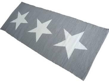 Teppich Maxi-Stern in Grau/ Weiß