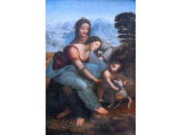 Leinwandbild Anna selbdritt von Leonardo Da Vinci