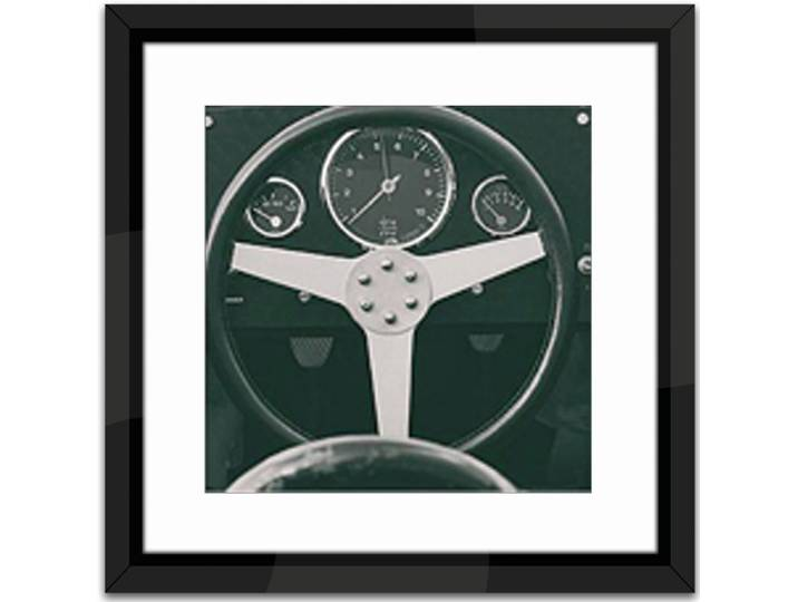 1959 Porsche Framed Photographic Print Weiß