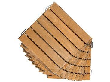 30 x 30 cm Bodenfliese Tavon aus Holz