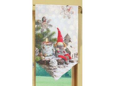 Querbehang Weihnachtswichtel mit Stangendurchzug